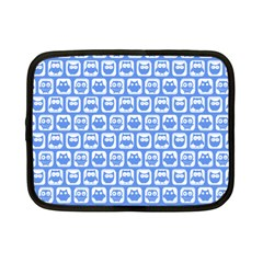 Blue And White Owl Pattern Netbook Case (Small)