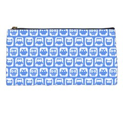 Blue And White Owl Pattern Pencil Cases
