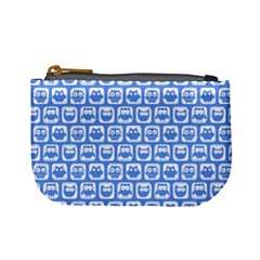 Blue And White Owl Pattern Mini Coin Purses