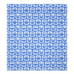Blue And White Owl Pattern Shower Curtain 66  X 72  (large)