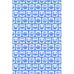 Blue And White Owl Pattern 5.5  x 8.5  Notebooks