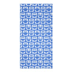 Blue And White Owl Pattern Shower Curtain 36  x 72  (Stall)