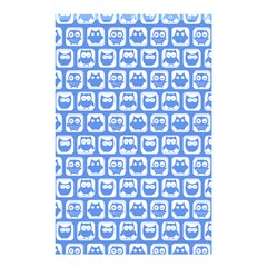Blue And White Owl Pattern Shower Curtain 48  x 72  (Small)