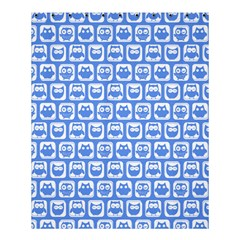 Blue And White Owl Pattern Shower Curtain 60  x 72  (Medium)