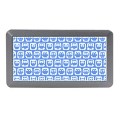 Blue And White Owl Pattern Memory Card Reader (Mini)