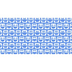 Blue And White Owl Pattern YOU ARE INVITED 3D Greeting Card (8x4)