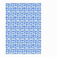 Blue And White Owl Pattern Small Garden Flag (two Sides)