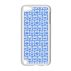Blue And White Owl Pattern Apple iPod Touch 5 Case (White)