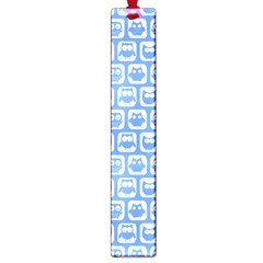 Blue And White Owl Pattern Large Book Marks