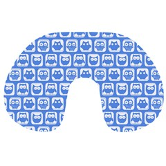 Blue And White Owl Pattern Travel Neck Pillows