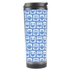 Blue And White Owl Pattern Travel Tumblers
