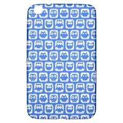 Blue And White Owl Pattern Samsung Galaxy Tab 3 (8 ) T3100 Hardshell Case