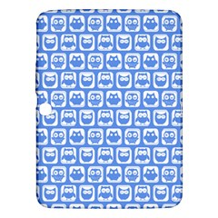 Blue And White Owl Pattern Samsung Galaxy Tab 3 (10.1 ) P5200 Hardshell Case