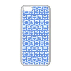 Blue And White Owl Pattern Apple iPhone 5C Seamless Case (White)