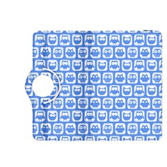 Blue And White Owl Pattern Kindle Fire Hdx 8 9  Flip 360 Case
