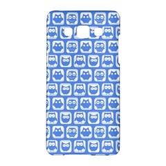 Blue And White Owl Pattern Samsung Galaxy A5 Hardshell Case