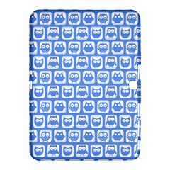 Blue And White Owl Pattern Samsung Galaxy Tab 4 (10.1 ) Hardshell Case
