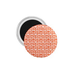 Coral And White Owl Pattern 1.75  Magnets