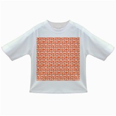 Coral And White Owl Pattern Infant/Toddler T-Shirts