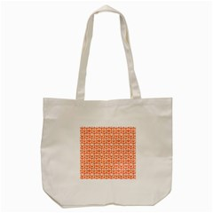Coral And White Owl Pattern Tote Bag (Cream)