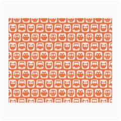 Coral And White Owl Pattern Small Glasses Cloth