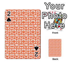 Coral And White Owl Pattern Playing Cards 54 Designs
