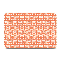 Coral And White Owl Pattern Plate Mats