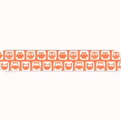 Coral And White Owl Pattern Small Bar Mats