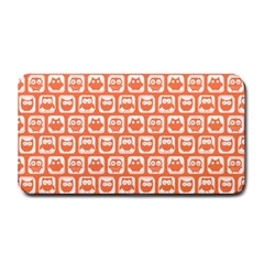 Coral And White Owl Pattern Medium Bar Mats