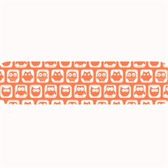 Coral And White Owl Pattern Large Bar Mats