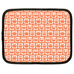 Coral And White Owl Pattern Netbook Case (xxl)