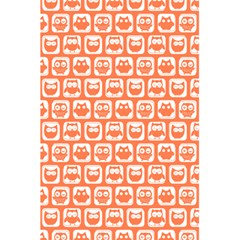 Coral And White Owl Pattern 5 5  X 8 5  Notebooks