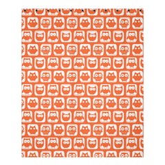 Coral And White Owl Pattern Shower Curtain 60  x 72  (Medium)