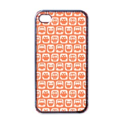 Coral And White Owl Pattern Apple iPhone 4 Case (Black)