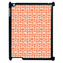 Coral And White Owl Pattern Apple iPad 2 Case (Black)