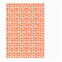 Coral And White Owl Pattern Large Garden Flag (Two Sides)