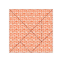 Coral And White Owl Pattern Acrylic Tangram Puzzle (4  x 4 )
