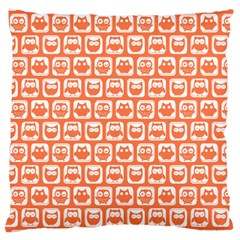 Coral And White Owl Pattern Large Cushion Cases (One Side)