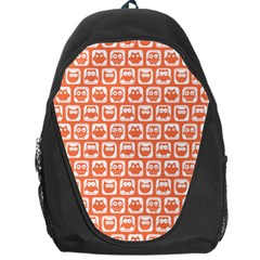 Coral And White Owl Pattern Backpack Bag