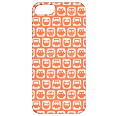 Coral And White Owl Pattern Apple iPhone 5 Classic Hardshell Case