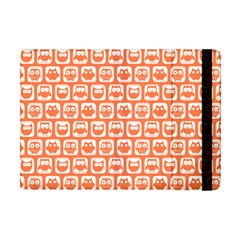 Coral And White Owl Pattern Apple iPad Mini Flip Case