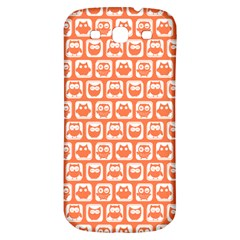 Coral And White Owl Pattern Samsung Galaxy S3 S III Classic Hardshell Back Case