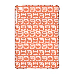 Coral And White Owl Pattern Apple iPad Mini Hardshell Case (Compatible with Smart Cover)