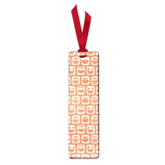 Coral And White Owl Pattern Small Book Marks