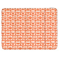 Coral And White Owl Pattern Samsung Galaxy Tab 7  P1000 Flip Case