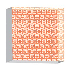 Coral And White Owl Pattern 5  x 5  Acrylic Photo Blocks