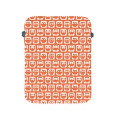 Coral And White Owl Pattern Apple iPad 2/3/4 Protective Soft Cases