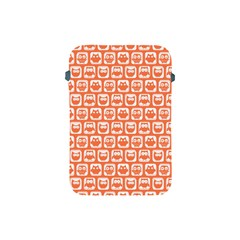 Coral And White Owl Pattern Apple iPad Mini Protective Soft Cases