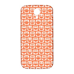 Coral And White Owl Pattern Samsung Galaxy S4 I9500/I9505  Hardshell Back Case