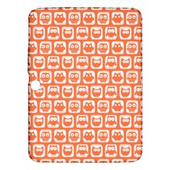 Coral And White Owl Pattern Samsung Galaxy Tab 3 (10.1 ) P5200 Hardshell Case
